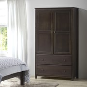 Grain Wood Furniture Shaker Armoire; Espresso