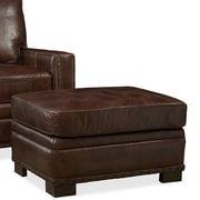 Palatial Furniture Bronson Leather Ottoman