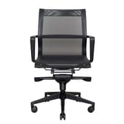 Wobi Office Bradley Low-Back Mesh Conference Chair; Black