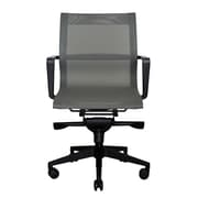 Wobi Office Bradley Low-Back Mesh Conference Chair; Gray