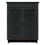 MCSIndustries Louvered Cabinet; Distressed Black