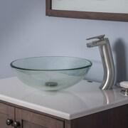 Novatto Bonificare Glass Vessel Bathroom Sink Set