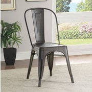 Wildon Home   Bellevue Side Chair; Antique Brown