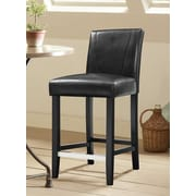 Wildon Home   Bar Stool with Cushion (Set of 2); Black