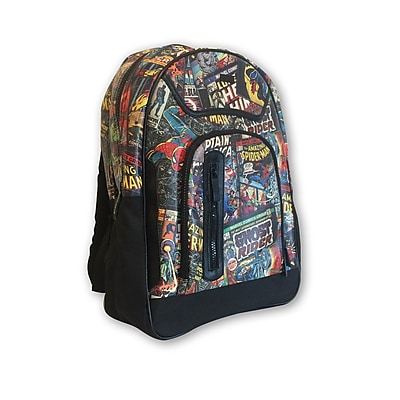 Marvel Comic Printed Black Backpack (MV-B-BP) 2401537