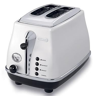 DeLonghi Icona 2 Slice Toaster, White