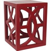 Wayborn Charleston End Table; Red