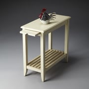 Butler Irvine End Table; Distressed Cottage White