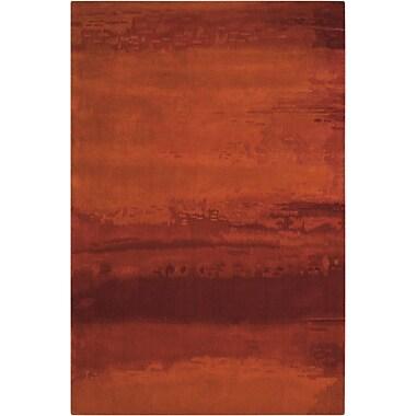 Calvin Klein Rugs Luster Wash Russet Tones Rust Area Rug; 4' x 6'