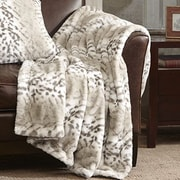 Madison Park Signature Serengeti Luxury Faux Fur Throw Blanket