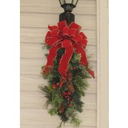 Floral Home Decor Holiday Door Swag