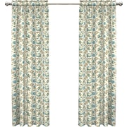 Traditions by Waverly Set in Spring Single Curtain Panel; Spa
