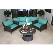 Bellini Natal 7 Piece Deep Seating Group with Cushion; Canvas Aruba