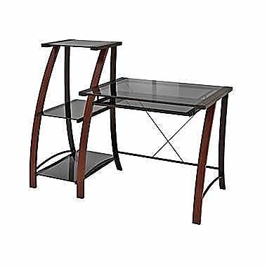 Z-Line Triana Desk and Bookcase, Cherry