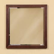 DecoLav Adrianna Framed Mirror; Dark Walnut