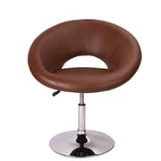 Roundhill Furniture Contemporary Adjustable Swivel Papasan Chair; Brown