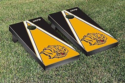 Victory Tailgate NCAA Triangle Version Cornhole Game Set; Arkansas Pine Bluff UAPB Golden Lions WYF078278336512