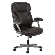 Essentials by OFM ESS-6030-Brown High Back Leather Chair, Swivel and Tilt Control, Brown Leather