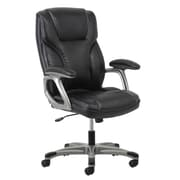 Essentials by OFM ESS-6030-BLK High Back Leather Chair, Swivel and Tilt Control, Black Leather