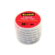 Scotch Colored Plastic Tape Clear 1 1/2 In. [Pack Of 12] (12PK-191CLE)