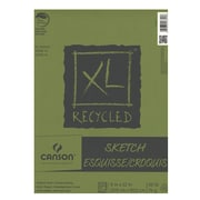 Canson Xl Recycled Sketch Pads 9 In. X 12 In. Pad Of 100 Sheets Fold-Over [Pack Of 3] (3PK-100510921)