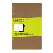 Moleskine Cahier Journals Kraft Brown, Blank 3 1/2 In. X 5 1/2 In. Pack Of 3, 64 Pages Each [Pack Of 3] (3PK-9788883704949)