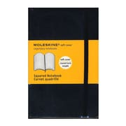 Moleskine Classic Soft Cover Notebooks Graph 3 1/2 In. X 5 1/2 In. 192 Pages [Pack Of 3] (3PK-9788883707124)