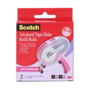 Scotch Tape Glider Refill Rolls Box Of 2 Acid-Free Adhesive Transfer Tape 1/4 In. [Pack Of 3] (3PK-085-RAF)