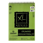 Canson Xl Recycled Drawing Pads 9 In. X 12 In. Pad Of 60 Sheets Wire Bound Top [Pack Of 3] (3PK-100510915)