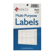 Maco Multi-Purpose Handwrite Labels Rectangular 1/2 In. X 3/4 In. Pack Of 1000 [Pack Of 6] (6PK-MS-812)