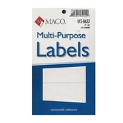 Maco Multi-Purpose Handwrite Labels Rectangular 4 In. X 2 In. Pack Of 120 [Pack Of 6] (6PK-MS-6432)