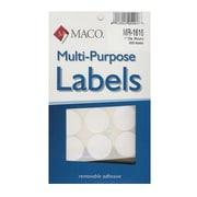 Maco Multi-Purpose Handwrite Labels Round 1 In. Pack Of 600 [Pack Of 6] (6PK-MR-1616)