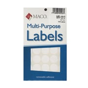Maco Multi-Purpose Handwrite Labels Round 3/4 In. Pack Of 1000 [Pack Of 6] (6PK-MR-1212)