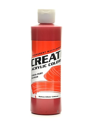Createx Acrylic Colors Quinacridone Crimson 8 Oz. [Pack Of 3] (3PK-2007-08) 2133598