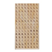 American Crafts Thickers Dimensional Letters Tile Mosaic Natural Wood [Pack Of 3] (3PK-53382)
