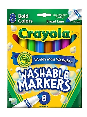 Crayola Bold Colors Ultra-Clean Washable Markers Broad Box Of 8 [Pack Of 6] (6PK-58-7832) 2133642