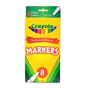 Crayola Classic Colors Marker Sets Fine Box Of 8 [Pack Of 6] (6PK-58-7709)