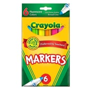 Crayola Fluorescent Marker Set Fluorescent [Pack Of 6] (6PK-58-7748)