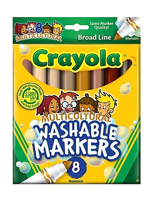 Crayola Multicultural Colors Ultra-Clean Washable Markers Box Of 8 [Pack Of 4] (4PK-58-7801) 2133601