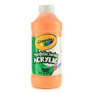 Crayola Portfolio Series Acrylic Paint Brilliant Orange 16 Oz. [Pack Of 2] (2PK-20-4016-720)