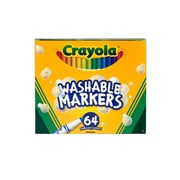 Crayola Washable Skinny Markers Pack Of 64 Set Of 64 [Pack Of 2] (2PK-58-8764)
