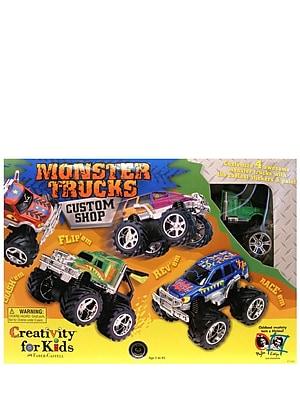 Creativity For Kids Monster Trucks Custom Shop 4 Truck Kit (1166)