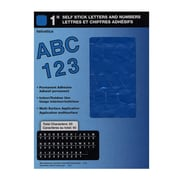 Headline Blue Vinyl Stick-On Letters 1 In. Helvetica Capitals And Numbers [Pack Of 4] (4PK-31114)