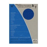 Headline Blue Vinyl Stick-On Letters 1/2 In. Helvetica Capitals And Numbers [Pack Of 4] (4PK-31814)