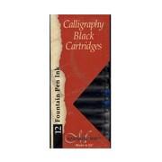 Manuscript Calligraphy Ink Cartridges Black Pack Of 12 [Pack Of 6] (PK6-MC0461CB)