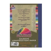 Pacon Peacock Construction Paper Dark Blue 9 In. X 12 In. [Pack Of 4] (4PK-P7309)