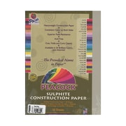 Pacon Peacock Construction Paper Pearl Gray 9 In. X 12 In. [Pack Of 6] (6PK-P8809)