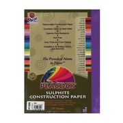Pacon Peacock Construction Paper Violet 9 In. X 12 In. [Pack Of 4] (4PK-P7209)