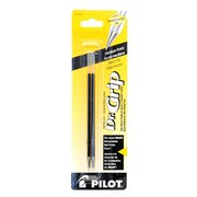 Pilot Dr. Grip Ball Point Pen Refills Black Medium Pack Of 2 [Pack Of 18] (18PK-BRFS2BLKM6PK)