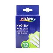 Prang Hygieia Dustless Board Chalk White [Pack Of 12] (12PK-31144)